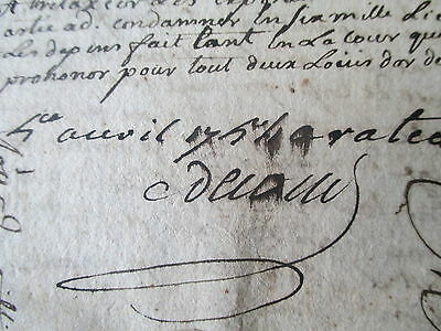 ORIGINAL 8 PAGE FRENCH DOCUMENT; BORDEAUX PRISONERS HANDWRITTEN  5th APRIL 1754