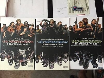 Walking Dead Compendium GRAPHIC NOVEL TPB Lot - Volumes 1,2 and 3