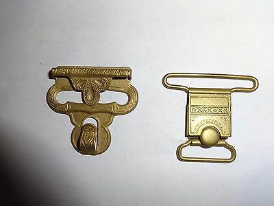 Beautiful couple of suspender clips from early 1870th!!!