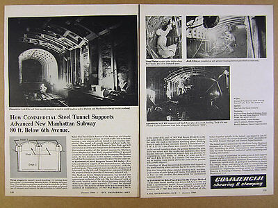 1966 New York City 6th Ave Express Subway Tunnel project photos vintage print Ad
