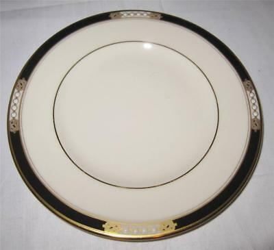 Lenox HANCOCK Presidential Collection Raised Dots Black Band, Bread Plate 6 1/2""