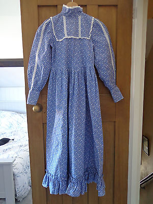 Laura Ashley Vintage Girls Prairie Dress Made in Wales Carno Label