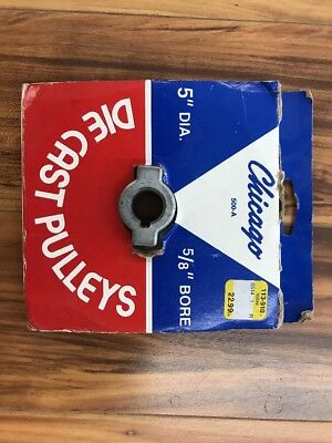 "Chicago Die Cast Single V Grooved Pulley A Belt w 5"" Dia X 5/8"" Bore Bulk"