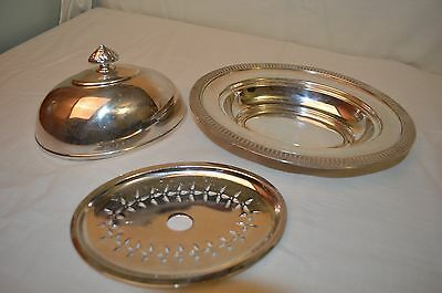 Vintage Silver Plated Adams & Shaw Covered Butter Dish 1880's