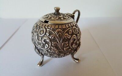 INDIAN SILVER KUTCH BHUJ GUJARAT RAJ MUSTARD POT 51.4 g