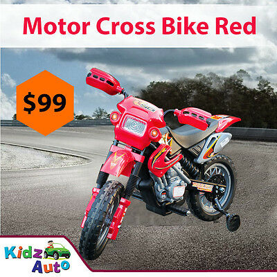 Kids Ride-On Car - 6v Electric Motor Bike - AWESOME BIRTHDAY PRESENT -RED COLOUR