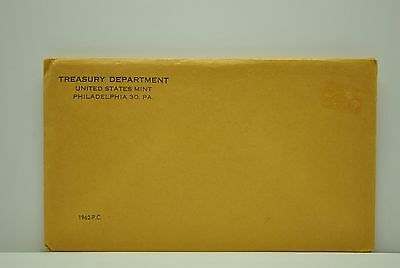 1962-P Us Mint Proof Set With Original Envelope And Coa