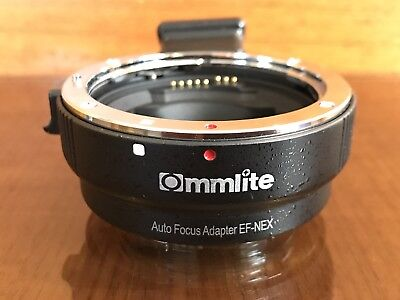 Commlite Auto Focus EF-NEX II MOUNT  Adapter  Canon EF-S Lens to Sony NEX A7 A7R