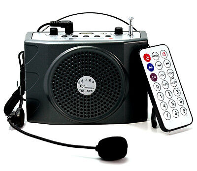 25W Mini Portable Waistband Voice Booster PA Amplifier speaker FM Remote Control