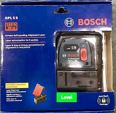 Bosch-GPL-5-5-Point-Alignment-Laser-Level  GPL5S BRAND-NEW-SEALED