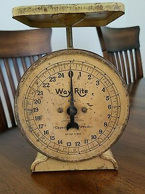 Vintage Way Rite Scale 25lbs Working