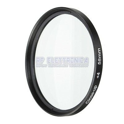 58mm Macro Close Up Filter Lens Kit +1 +2 +4 +10 for Canon EOS 700 D 650 600 55