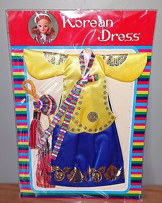 Vintage Korean Dress For Doll
