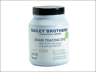 Bailey 3589 Drain Tracing Dye Powder Green Mix with Water for Flow Pipes Drains