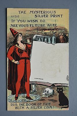 R&L Postcard: Novelty Fortune Telling Witch Future Wife Ugly Woman