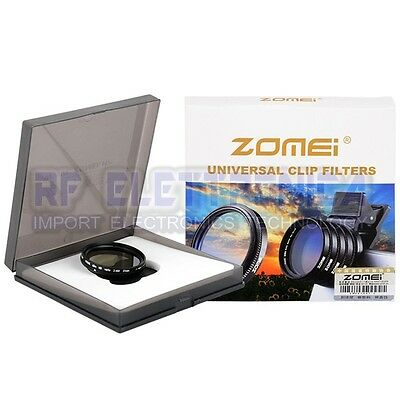 Zomei Adjustable 37mm Neutral Density Clip-on ND 2-400 Phone Room Filter Lens