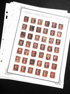 EDW1949SELL : GREAT BRITAIN 1841 Scott #3 Extensive collection of 241 stamps.