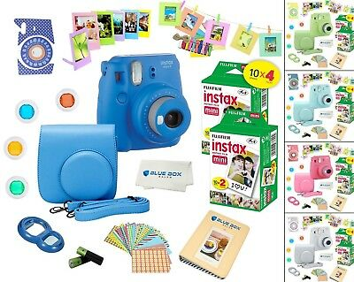 Fujifilm Instax Mini 9 Instant Camera + 40  Fuji Film SHEETS + Accessory Bundle!