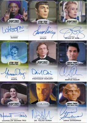 Star Trek Aliens Autograph Card Set 76 Cards
