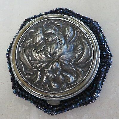 Antique Victorian Silver Steel Ladies Round Beaded Tam O'Shanter Coin Purse