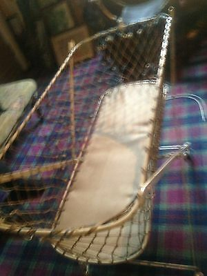 Antique Metal Wire Baby Cot  In
