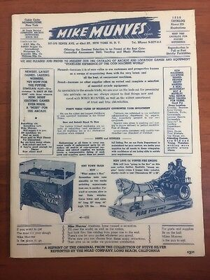 Vintage 1956 Mike Munves Coin Operated Arcade Games Advertising Catalog Jukebox