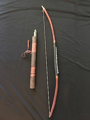 Antique African Tribal Bow And Arrows