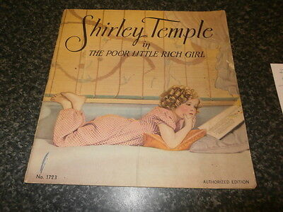 Shirley Temple in The Poor Little Rich Girl film book, New York. Film Movie