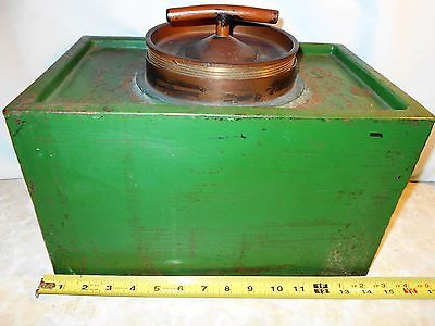 Very  Rare,  Old  Heavy  37 Pounds, Thick  Steel  Strong / Fire  Box - Safe