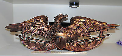 Turner American Federal Eagle Shield Plaque Wall Hanging  25 Inches