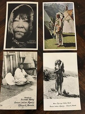 Vintage Native American Indian POSTCARD Collection PAIUTE Washoe NAVAJO