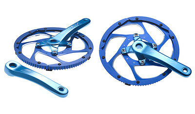 STRIDA Alloy Chain Wheel and Cranks (Anodised Blue) For STRIDA LT, SX, EVO