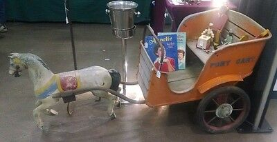 Vintage 1930's Coney Island Pony Cart Ride (Orig Paint) Metal and Wood.