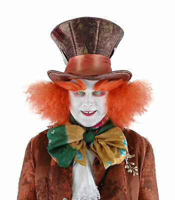 Mad Hatter Alice In Wonderland Deluxe Costume Hat with Wig