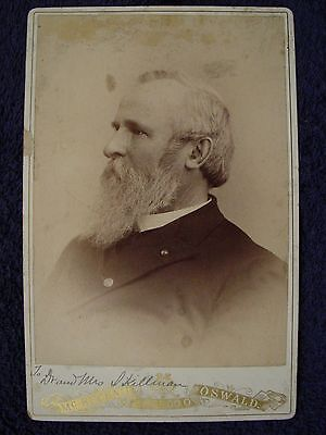 RARE President RUTHERFORD B HAYES Cabinet Card PHOTO McKecknie Oswald Toldedo OH