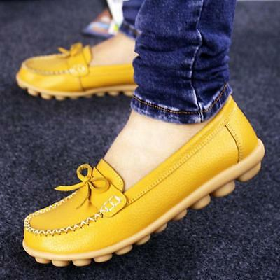Women Flat Slip On Lazy Pea Shoes Shallow Bowknot Shoes Casual Loafer Moccasin J