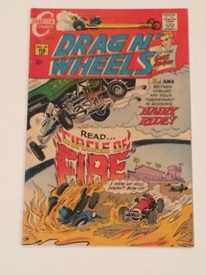 Drag N Wheels #39 Charlton Comics 1970's FN