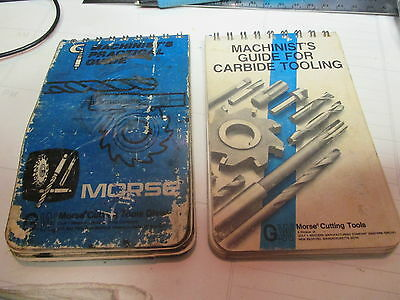 Vintage Morse Cutting Tools Machinist's Practical Guide /  For Carbide Tooling