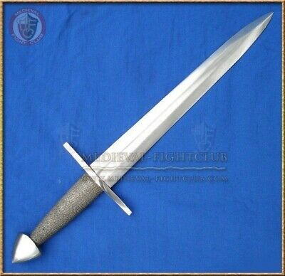 Dagger with braided wire grip reenactment weapon steel