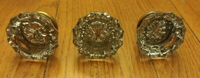 Beautiful Old Lot Of Vintage Glass Door Knobs Handles Hardware Art Or Crafts