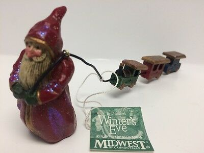 Midwest Of Cannon Falls P Schifferl Santa Pulling Train Christmas Figurine