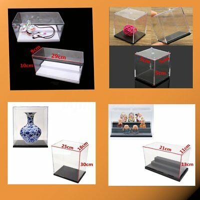 16 Types Transparent Display Box Acrylic Display Case Holder Dustproof For Model