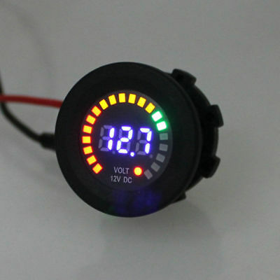 Blue LED Digital Display DC12V Car Boat Gauge Panel Voltmeter Battery Monitor