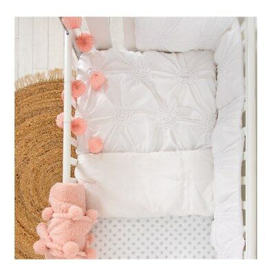 Willow white Appliqued Crib Comforter Quilt - babybeddingdesign