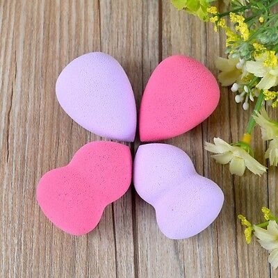 2Pcs Gourd-Shaped Makeup Facial Powder Blender Cosmetic Sponge Puff Pads
