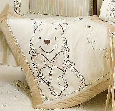 Disney Winnie The Pooh Appliqued Crib Comforter Quilt - babybeddingdesign