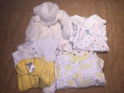 8 Items Baby Winter/spring Clothes Sz 000 Boy Or Girl