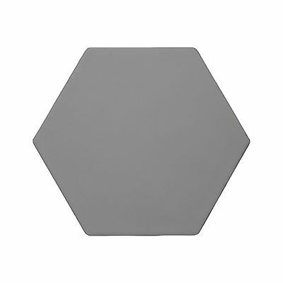 SAMPLE Full Body Hexagon Matt Dark Grey 20cm x 17cm