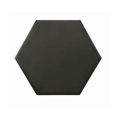 SAMPLE Full Body Hexagon Matt Black 20cm x 17cm