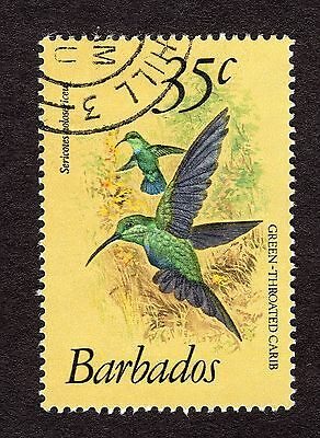1979 Barbados 35c Green throated carib SG631 FINE USED R31078